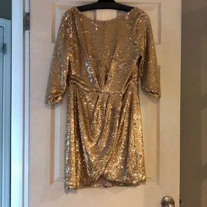 Rachel Zoe Gold Dress!